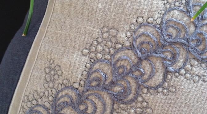 Paisley – frihåndsquilte med garn