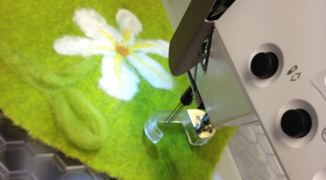 Filteapparat til symaskin