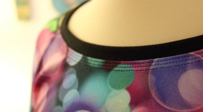Halsringning  jerseykjole – sy enkelt