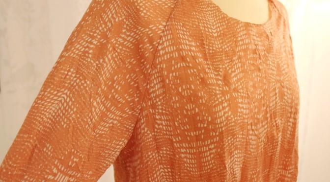 Loose-fit kjole med raglandermer