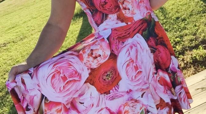 Jersey rosekjole