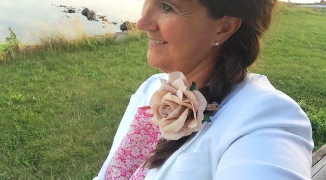 Blomstret sommerkjole i Libertystoff