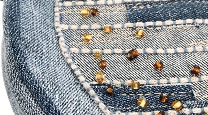Rund jeansveske med Sashiko-look – del 2