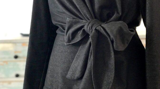 Jerseygenser med knytebelte